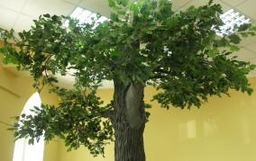 искусственное дерево дуб в аренду