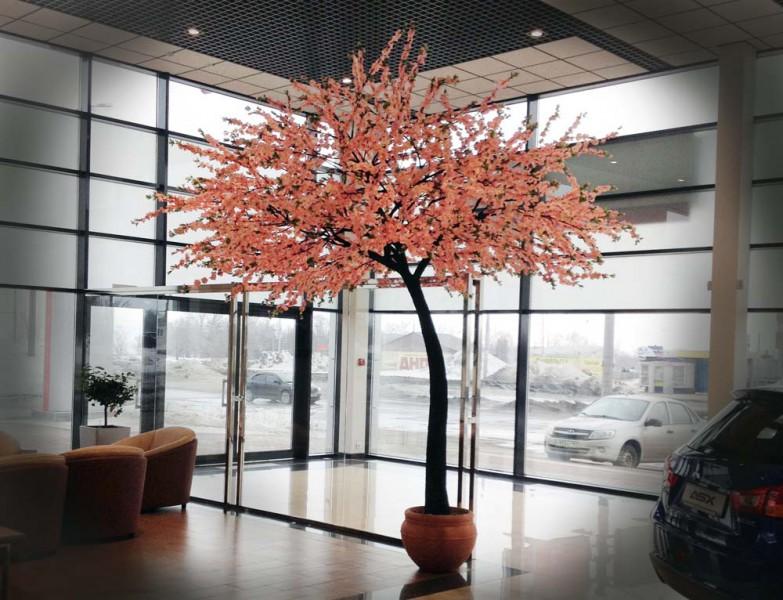 искусственная сакура в интерьере, аренда деревьев сакура